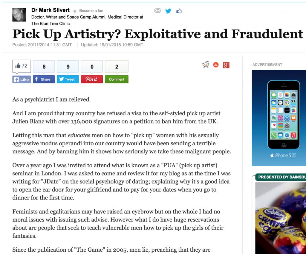 Huffington Post Pick UP Artistry