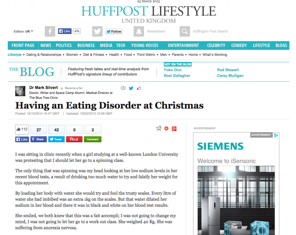 Dr. Silvert's story on treating patients with eating disorder
